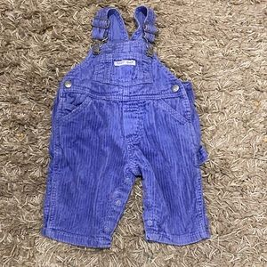 Vintage Gap corduroy blue/purple overalls 0-3M